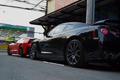 Chevrolet Corvette C7 Stingray, Nissan GTR R35 (Edrian1011) Tags: carspotting automotivephotography fastcars nissan japanesesportscar japanesecars gtr nissangtr chevroletcorvette corvette