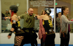 250 (Bawdy Czech) Tags: lcrd lava city roller dolls spit fires basin bombers bend or oregon april 2018 skate derby wftda flat track bout