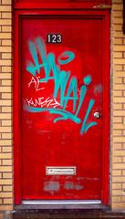 Door to Hawaii? ©2018 Steven Karp (kartofish) Tags: xt2 fujifilm fuji philladelphia pennsylvania chinatown door red graffiti mysterydoor 123n10thstreet abstract street