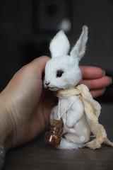 Little white rabbit 🐇 for adoption (lena.beloborodova) Tags: bjd fairytale peter cute bunny teddy rabbit