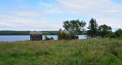 Farmhouses Along the River (RockN) Tags: stjohnriver farmhouse 1860s august2016 kingslanding newbrunswick canada vanagram