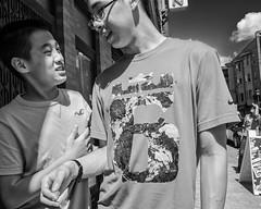 10th St. near Arch St., 2017 (Alan Barr) Tags: philadelphia 2017 archstreet 10thstreet chinatown street sp streetphotography streetphoto blackandwhite bw blackwhite mono monochrome candid city people fujifilm fuji x70
