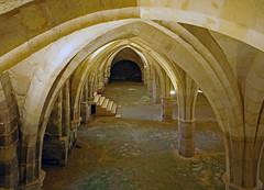 18 0390 - Aisne, Soissons, Abbaye Saint Jean des Vignes, le cellier (Jean-Pierre Ossorio) Tags: aisne église tour clocher arche arcade abbaye