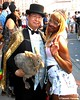 Dr. Takeshi Yamada and Seara (Coney Island sea rabbit). Brooklyn, New York.     20160626Sun Gay Pride Parade. DSCN7063=p6060C (searabbit29) Tags: takeshiyamada fineartexhibitions museumcollections famous japanese japaneseamerican artist osaka tokyo japan tv painting sculpture photography graphicdesign sideshow freakshow banner gaff performance fashiondesign fashion tophat jabot jewelrydesign victorian gothic goth steampunk dieselpunk fashiondesigner playboy bikini roguetaxidermist roguetaxidermy taxidermist taxidermy specialeffect cabinetofcuriosities dimemuseum seara searabbit coneyisland mythiccreature cryptozoology cryptid brooklyn newyorkcity nyc newyork