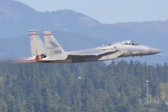84-0003 (LAXSPOTTER97) Tags: usaf united states air force oregon national guard 142nd 123rd 142ndfw 123rdfs fighter squadron wing redhawks mcdonnell douglas f15c eagle 840003 cn c306 ln 911 airport aviation airplane kpdx