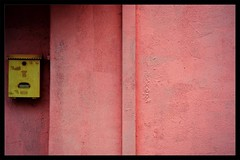 The Details : Anticipation (Storyteller.....) Tags: details wall letter mail box anticipation yellow pink