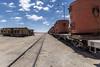 Bolivia desert and trains (elparison) Tags: trains bolivia desert sky blue