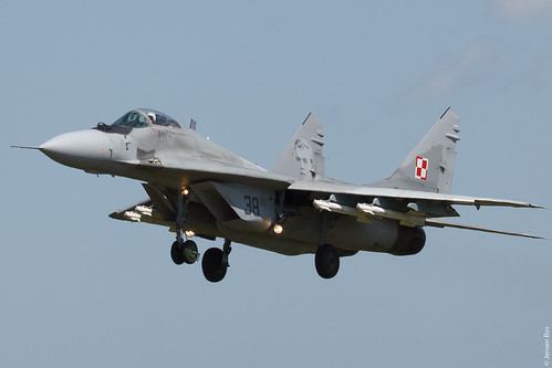 Polish Air Force MiG-29A 38 on finals at Malbork AB