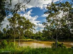 VIEW ACROSS THE RIVER #5 (len.austin) Tags: afternoon australia australianplants brisbane clouds grass gums landscape outdoor river subtropics