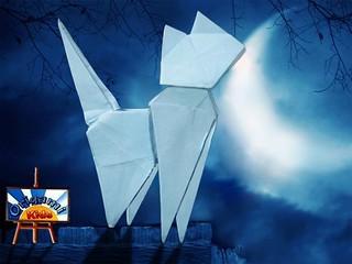Origami Cat by Seiji Nishikawa
