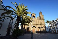 Catedral de Santa Ana - Las Palmas (Mark Wordy) Tags: catedraldesantaana cathedral plazadesantaana suare piazza laspalmas grancanaria spain sunset palmtrees
