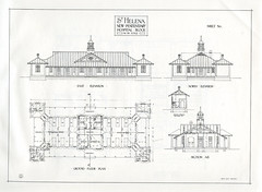 St Helena Penal Establishment - New penitentiary, book of 17 plans, reduced scale from linen tracings (Queensland State Archives) Tags: sthelenapenalestablishment gaol jail prison colony queensland sthelena criminal history moretonbay island convict brisbane queenslandstatearchives building sketch drawing plans technicaldrawings architecture penitentiary hospital linen tracing