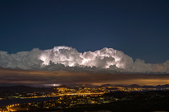 Cumulus Congestus (Vianney Rudent) Tags: nikon nikond610 orage storm stormchaser stormhunter chasing var sud paca gassin saint tropez sainttropez cumulus congestus thunderstorm weather 50mm france amazing night lightning cloud eclair mediterranean manfrotto landscape moon frenchriviera cotedazur