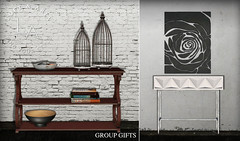Loft & Aria Group Gifts /May (Yelo Uriza / Loft & Aria) Tags: loft aria group gift mesh comsole table tvstand black rose april 2018 country modern rocknroll shabby chic may