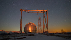 BTA-6 Large Altazimuth Telescope, Special Astrophysical Observatory, Arhyz (Mike Reva) Tags: astronomy astrophoto astrophotography astro cassiopea stars sky stargazing stillness samyang24 night nightsky nghtsky nightscape bta moonlight arhyz