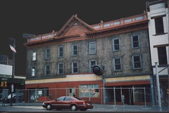 Hazelton Pennsylvania - Hazle Drugs -  Hazelton House  - Lost Building (Onasill ~ Bill Badzo) Tags: hotel hazelton pa pennsylvania hazle drugs house lost gone downtown nrhp historic district night shot capture old vintage photo markle pandee hazie hall masonic temple theatre coal industry city town family leichtman ice cream parlor soda co onasill store storefront destroyed abandon feeley the hub mens madison restaurant historical space building scaffold luzur luzernecounty