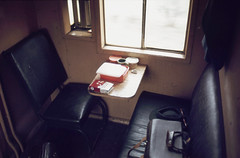 GHG brake van interior (sth475) Tags: railway railroad train freight goods van brakevan guardsvan caboose interior mirrorlookout lookout window ducket chair seat table camerabag ghgclass nvgaclass ghg30961