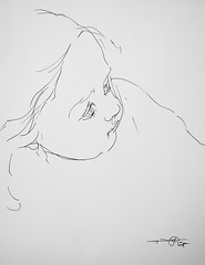 P1018024 (Gasheh) Tags: art painting drawing sketch portrait child girl line pen gasheh 2018