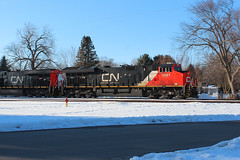 Tiers of Joy (view2share) Tags: et44ac cn3091 cn2990 ge generalelectric cn canadiannational cold gevo snow snowfall spring springtime winter wi wisconsin eastbound deansauvola april72018 april2018 april 2018 street newrichmond stcroixcounty 516 l516 cn516 cnl516 railway railroading rr railroads railroad rail rring railroaders rails track transportation trains tracks train transport trackage trees freight freighttrain freightcar freightcars minneapolissub