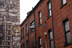 Mural and old buildings, Belfast, Northern Ireland (mattk1979) Tags: belfast northern ireland unitedkingdom mural buildings city