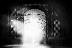 ...lightarch... (*ines_maria) Tags: viena austria urban urbanart light castle schönbrunn spring baroque beautiful city complex europe royal town travel woman person palace landmarc historic inspire bw blackandwhite noiretblanc