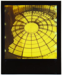 Yellow October day in  Milan 3 (Giorgio Verdiani) Tags: polaroid 600 impulse impossible project instant image 600asa 600iso istantanea milan milano lombardia building edificioarchitecture architettura ottobre october 2017 blackandyellow gialloenero yellow giallo thirdman impossibleproject gallery arcade galleria vittorioemmanuele glass vetro ferro iron vault volta cupola dome