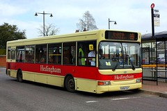 Headingham at Braintree (Chris Baines) Tags: headingham dennis dart plaxton pointer 2 eu56 flp braintree bus park 89 srvice from great yeldham