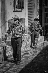 """Tomorow maybe"" !!! (poupette1957) Tags: art atmosphère black canon city costumes guatemala humanisme imagesingulières life monochrome man noiretblanc noir old photographie people rue street town travel urban ville voyage"