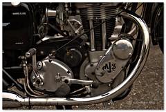 Heyday A J (Oul Gundog) Tags: motorbike wheels comber co down ulster northern ireland uk castle espie engine metal bike motorcycle ajs