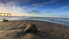 Light On Rock (kpce1960) Tags: canon beach rocks light clouds sky landscape colour pier seaside saltburn nature weather