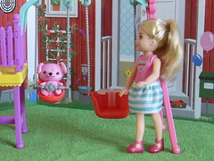 Ronald at the children's playground (BackToTheChildhood80) Tags: barbie doll mattel chelsea boy black hair swings play set