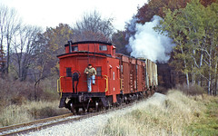 Watching the Rails Unfold (craigsanders429) Tags: caboose littleriverrailroad steamtrains steamexcursions michiganrailroads michigan freighttrains