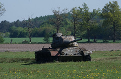 "Abandoned M-47 ""Patton"" (SurfacePics) Tags: patton m47patton niedersachsen lowersaxony deutschland germany europa wiese feld natur nature schiesplatz löwenzahn mai 2018 surfacepics hartziele targets tank tanks panzer panzerwrack wrack abandoned decay bundeswehr amazing stunning schrott rusty rost militär military army wrecked wreck lostplace urbex urbanexploring urbanexploration urbexpeople sky himmel blau gelb yellow peace ruins nordwesten norddeutschland sögel wahn sonyalpha77ii cam sonyalpha kamera photo photography foto fotografie emsland gun kanone great spring outdoor warpigs"