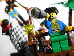 Buccaneers (<spaceman~spiff>) Tags: lego moc scene pirates buccaneers minifigs sea wreck treasure gold adventure legography spyglass idea vignette modular