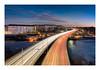 Travelers (Andreas Larzon Photography) Tags: bluehour bluesky building cityscape highway landscape landscapephotography lightrays lillaessingen magentasky nikond7200 sigma1020mmf35exdchsm sky stockholm stockholmslän sverige sweden lightstreaks lighttrails