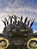 The Pot (ANOZER Photograffist) Tags: paris france architecture design decoration deco pont bridge alexandreiii lamp light graphic anozer anozercreation photography photo detail objet plant flower sculpture steel metal