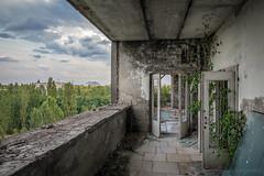 Balcony view (Lesley Langeveld) Tags: chernobyl nuclear power plant chnpp pripyat urban exploration abandoned decay disaster tsjernobyl