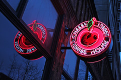 Cherry Street Coffee House (skipmoore) Tags: seattle cherrystreetcoffeehouse neon sign