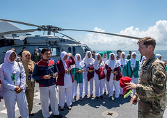 "USNS Mercy makes first mission stops of Pacific Partnership 2018 (#PACOM) Tags: pacificpartnershippacificpartnership2018pp18partnership indonesia rm689 bengkulu id uspacificcommand ""pacom"