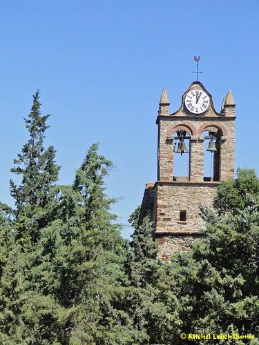 Castelnou - Clocher de l'Église Sainte-Marie du Mercadal