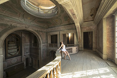 Aux siècles des siècles (lilystoneheart_photography) Tags: urbex urbanexploration greenpalace palace abandon oldplace architecture girl sexy dance oldarchitecture adventure adventuretime exploring exploration explorers balcon history