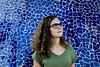 Aneta (aleksandragórecka1) Tags: girl woman palms sunglasses blue mosaic valencia spain curlyhair 80d