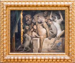 Affen als Kunstrichter / Monkeys as Judges of Art (Gösta Knochenhauer) Tags: 2016 april fz1000 dmcfz1000 münchen munich germany deutschland neue pinakothek museum art kunst painting gemälde bayern bavaria nik p9030780nik p9030780 panasonic lumix allemagne bavarie monaco