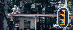 2018 - Mexico City - Street Art (Ted's photos - For Me & You) Tags: 2018 cdmx cityofmexico cropped mexico mexicocity nikon nikond750 nikonfx tedmcgrath tedsphotos tedsphotosmexico vignetting streetlight art sculpture redlight greenlight publicart streetscene street wideangle widescreen