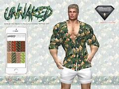Tropical Half-Unbuttoned Shirt (eddy.csak) Tags: secondlife shirt unnaked halfunbuttonedshirt halfunbuttoned unbuttoned tropical aesthetic niramyth