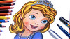 How-To-Draw-Princess-Sofia-From-Sofia-The-First (massiouiart) Tags: تعلم ترسم انمي كرتون رسم متعة الرسم