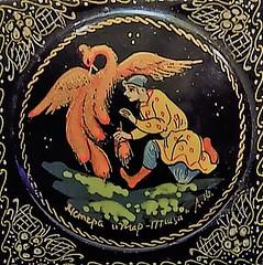 "Circle painting  ""Macro Mondays"" (marieschubert1) Tags: painting hand painted black box ukraine wood gold colors ""circles ""macro mondays"" souvenoir andenken present folk art bird men"