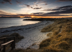 Sshhh... (pauls1502) Tags: scotland scottishhighlands island camusdarach beach seascape sunset sunlight sunburst sand nikon clouds coast twilight morar