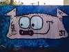 Don't Let Me Boar You (Steve Taylor (Photography)) Tags: boar pig 37 coathanger animal art digital graffiti mural streetart fence gull bird blue pink smile smiling newzealand nz southisland canterbury drips runs ears eyes christchurch newbrighton