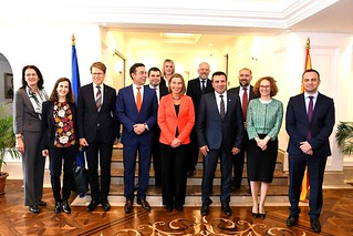 Federica Mogherini, Vice-President of the EC, visits the former Yugoslav Republic of Macedonia, April 2018